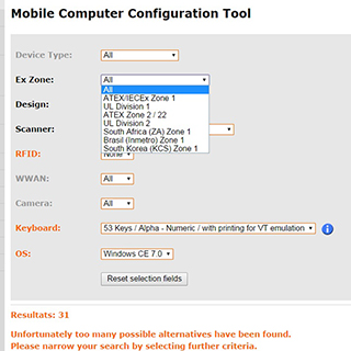 Mobile Computer Configuration Tool